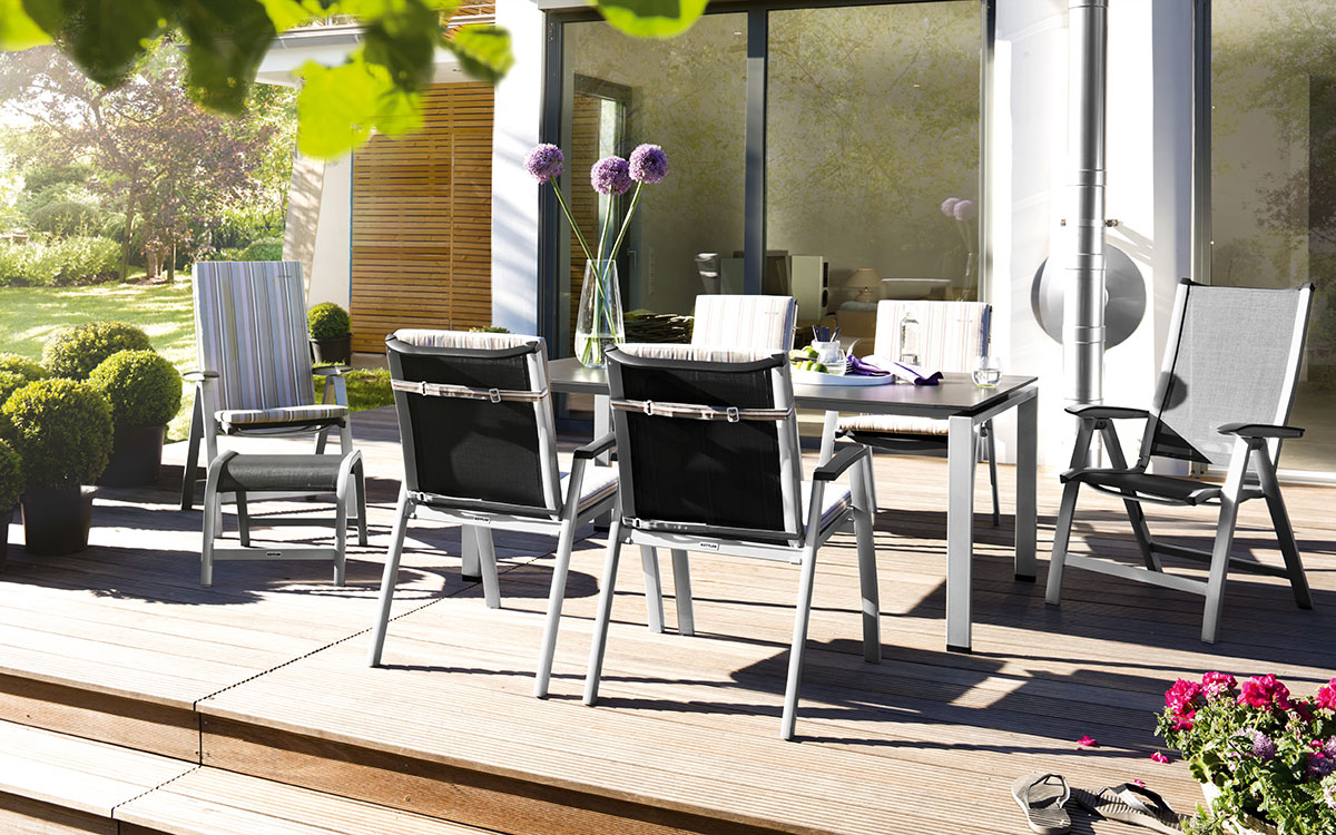 Gartenmöbel Set aus Aluminium  Alu  Galerie Kwozalla