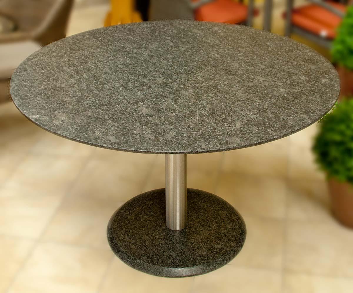 esstisch rund granitplatte