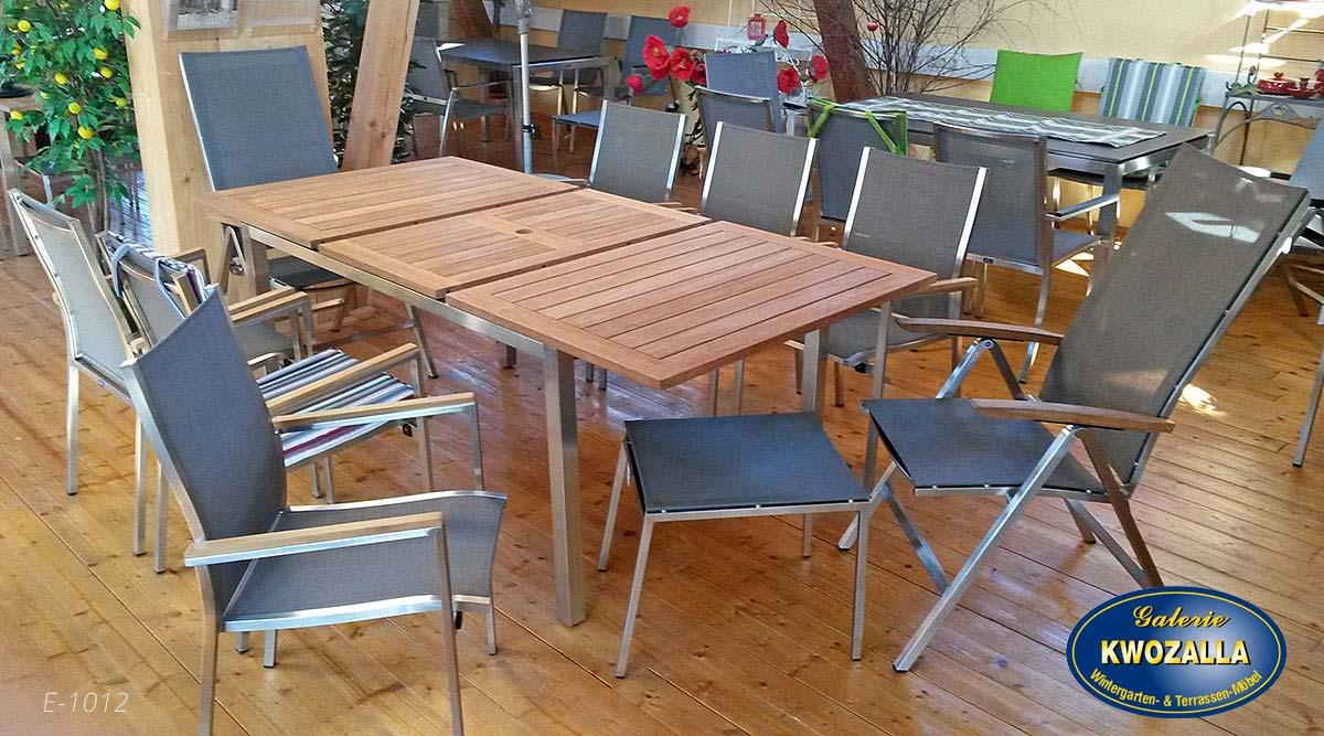 Gartenmöbel Set aus Holz - Galerie Kwozalla
