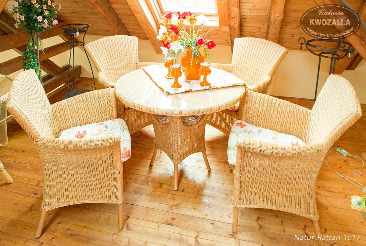 ... Rattan Gartenmöbel   Rattansessel + Runder Tisch, Rattangarnitur,  Sitzgruppe ...