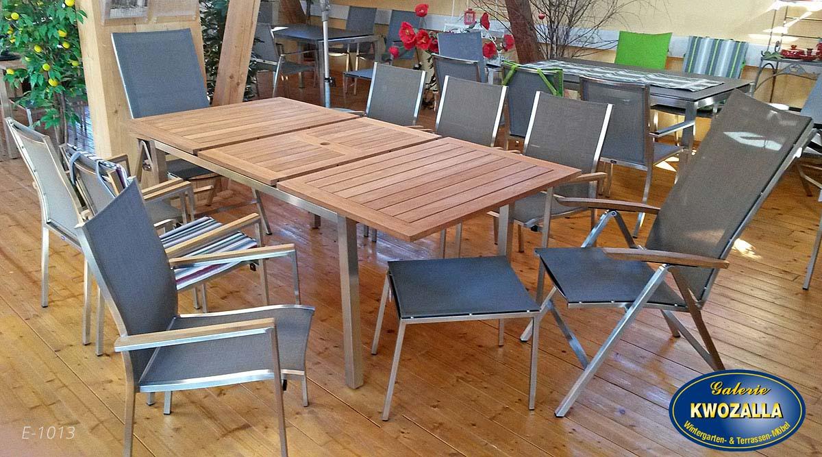 Teakholz gartenmöbel klappbar  Teak-Holz Gartentische, ausziehbar, klappbar - Galerie Kwozalla