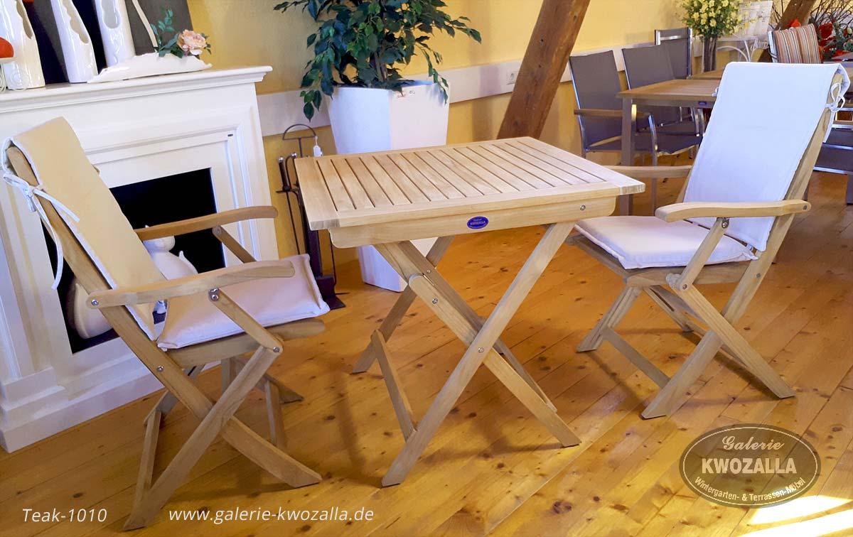 Perfekt ... Teakholz Gartenmöbel   Teak   2er Set Garten/Balkonmöbel Für Kleine  Balkone   Klappstuhl + ...